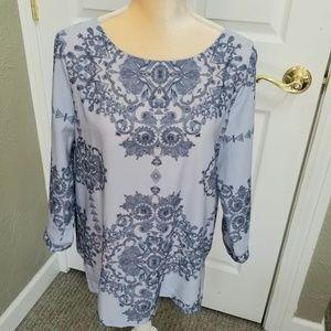 Beautiful light blue blouse, size Large